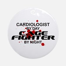 Cardiologist Cage Fighter by Night Ornament (Round