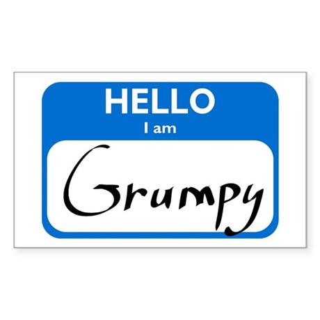 Grumpy Rectangle Sticker