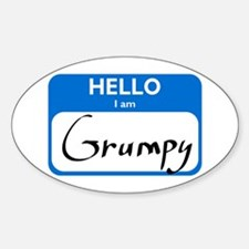 Grumpy Oval Decal