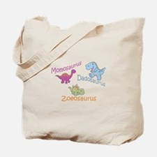 Mom, Dad, & Zoeosaurus Tote Bag