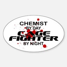 Chemist Cage Fighter by Night Oval Decal
