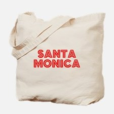 Retro Santa Monica (Red) Tote Bag