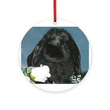 Black Velvet Ornament (Round)