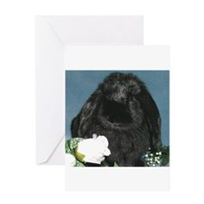 Black Velvet Greeting Card