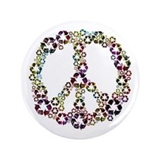 """Patriotic Recycle Peace 3.5"""" Button"""