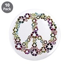 "Patriotic Recycle Peace 3.5"" Button (10 pack)"