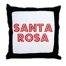 Retro Santa Rosa (Red) Throw Pillow