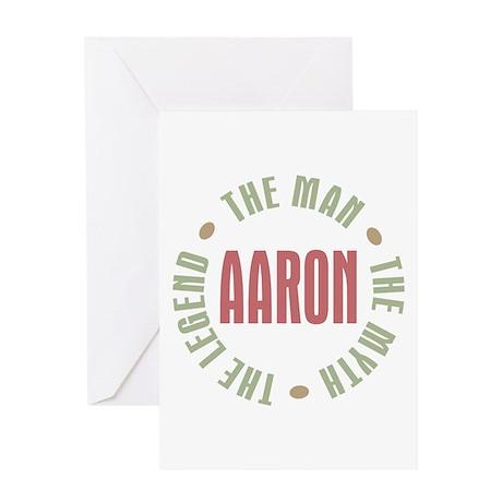 Aaron Man Myth Legend Greeting Card