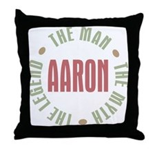 Aaron Man Myth Legend Throw Pillow