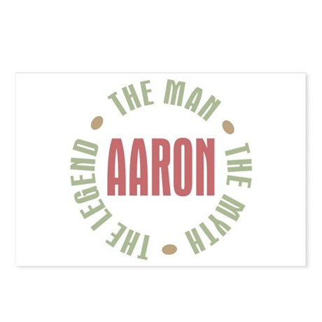 Aaron Man Myth Legend Postcards (Package of 8)