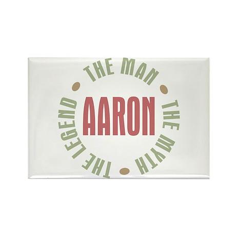 Aaron Man Myth Legend Rectangle Magnet (100 pack)