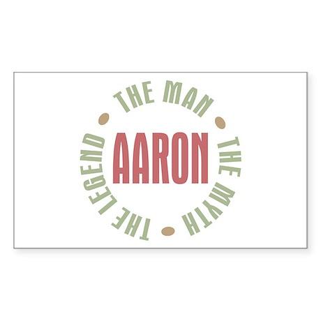 Aaron Man Myth Legend Rectangle Sticker 10 pk)