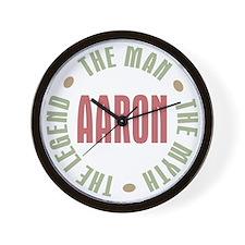 Aaron Man Myth Legend Wall Clock