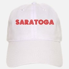 Retro Saratoga (Red) Baseball Baseball Cap