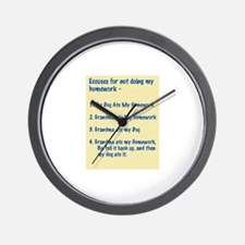 homework excuses #3 Wall Clock
