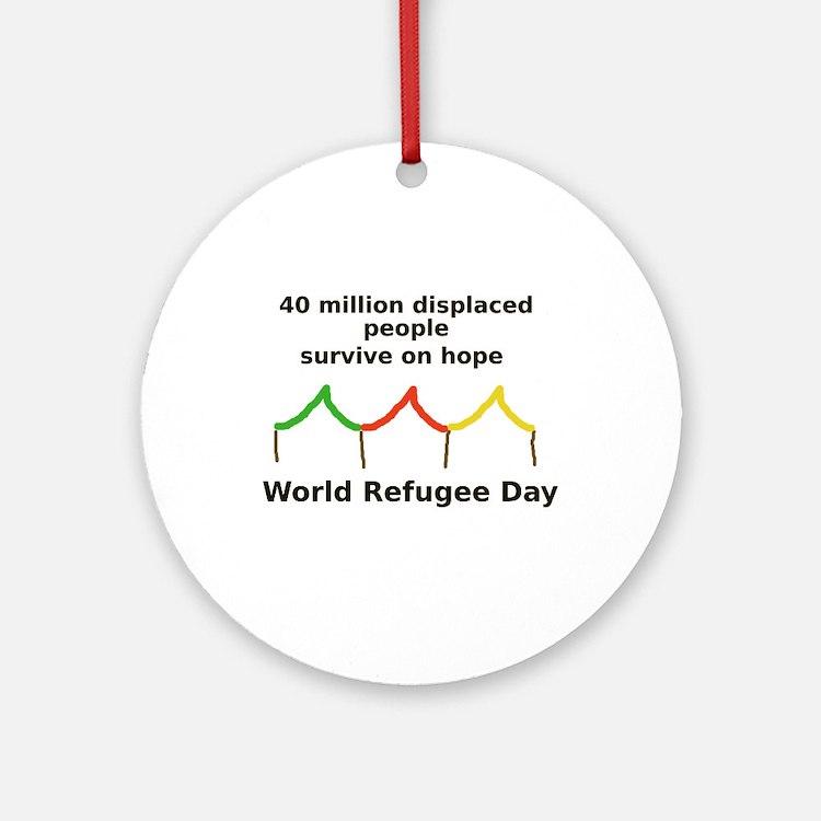 World Refugee Day Ornament (Round)