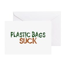 Plastic Bags Suck Greeting Card