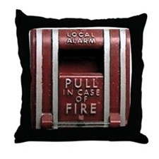 Pull In Case of Fire Throw Pillow