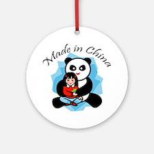 Made in China Panda Ornament (Round)