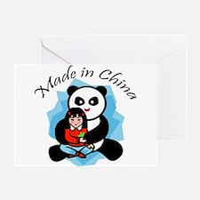 Made in China Panda Greeting Card