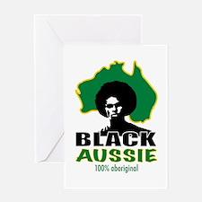 Black Aussie Greeting Card