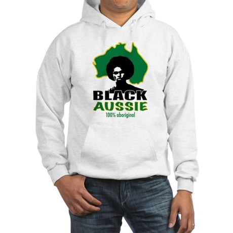 Black Aussie Hooded Sweatshirt