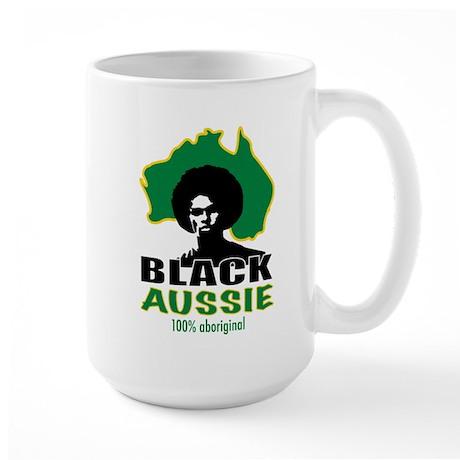 Black Aussie Large Mug