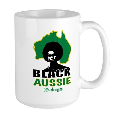 Black Aussie Large Mug