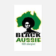 Black Aussie Rectangle Decal