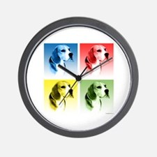 Beagle Pop Art Wall Clock
