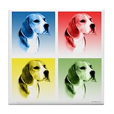 Beagle Pop Art Tile Coaster