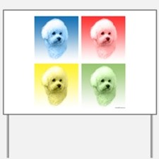 Bichon Pop Art Yard Sign