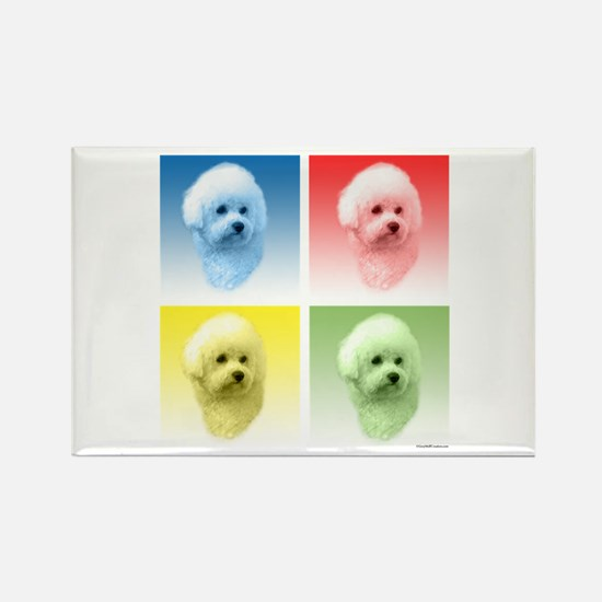 Bichon Pop Art Rectangle Magnet (10 pack)