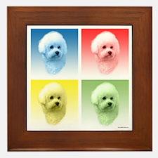 Bichon Pop Art Framed Tile