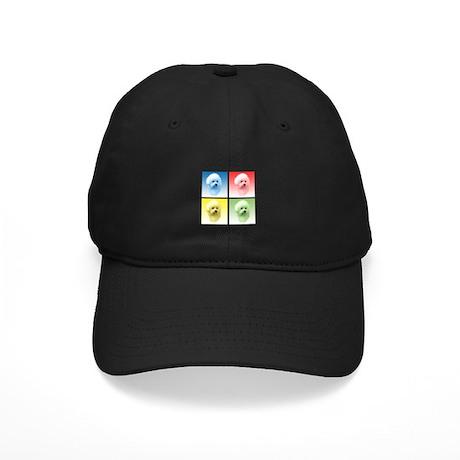 Bichon Pop Art Black Cap