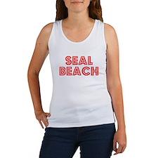 Retro Seal Beach (Red) Women's Tank Top