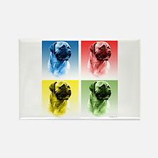 Bullmastiff Pop Art Rectangle Magnet (100 pack)