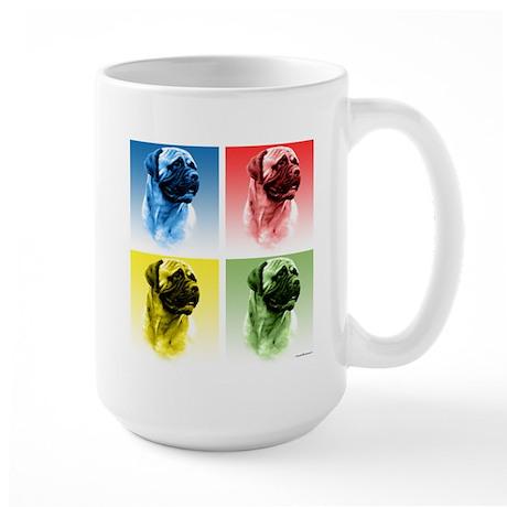 Bullmastiff Pop Art Large Mug