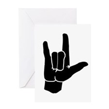 I LOVE YOU (in sign language) Greeting Card