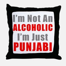 I'm not an Alcoholic Throw Pillow