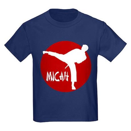 Micah Karate Kids Dark T-Shirt