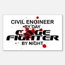 Civil Engineer Cage Fighter by Night Decal