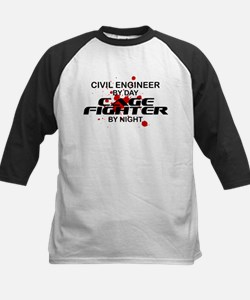 Civil Engineer Cage Fighter by Night Tee