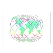 Rainbow Holon Peaceful Postcards (Package of 8)