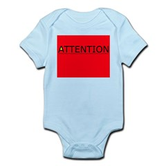 (need) ATTENTION! sign on Infant Creeper