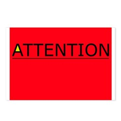 (need) ATTENTION! sign on Postcards (Package of 8)