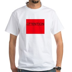 (need) ATTENTION! sign on Shirt