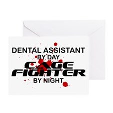 Dental Asst Cage Fighter by Night Greeting Cards (