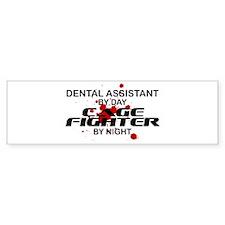 Dental Asst Cage Fighter by Night Bumper Bumper Sticker