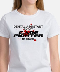 Dental Asst Cage Fighter by Night Tee